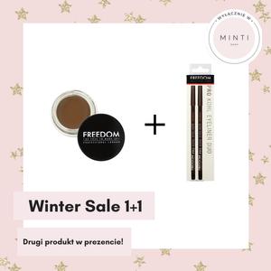 Freedom Makeup Pro Żelowy cień do stylizacji brwi Caramel Brown + Pro Kohl Eyeliner Duo Black