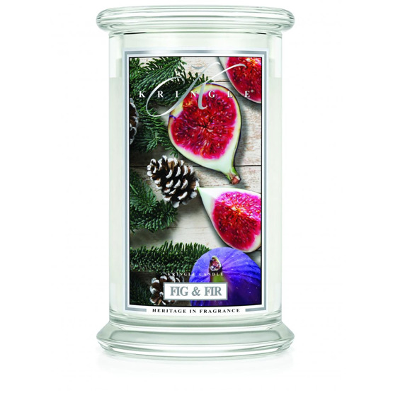 Kringle Candle ŚWIECA W SŁOIKU DUŻA Fig & Fir