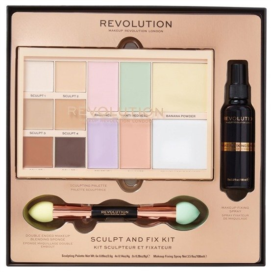 Makeup Revolution REVOLUTION  Zestaw do makijażu Sculpt & Fix Kit 2018