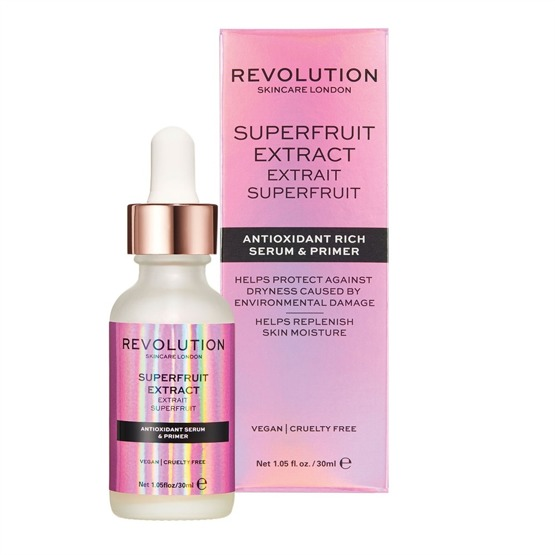 Makeup Revolution SKINCARE Superfruit Extract – Antioxidant Rich Serum & Primer Rozświetlające serum i baza pod makijaż 30ml