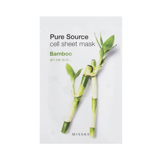 Missha Pure Source Cell Sheet Mask Maseczka w płacie Bamboo